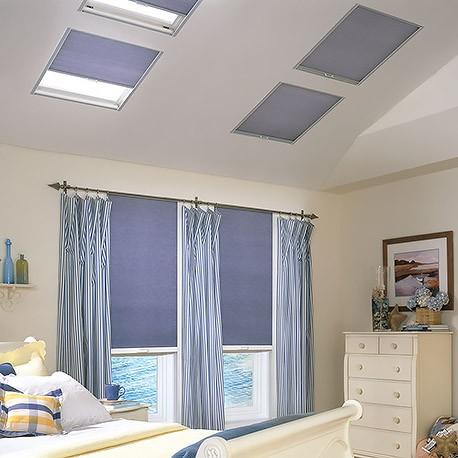 Balcony skylight double cell blackout shades for Skylight balcony window
