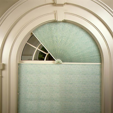 Perfect Double Cell Blackout Arch Shades Movable