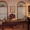 Perfect Double Cell Room Darkening Arch Shades (Stationary)