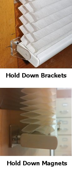 Hold Down Brackets and Magnets for Outside Mount Cellular Shades